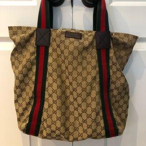 Gucci canvas tote